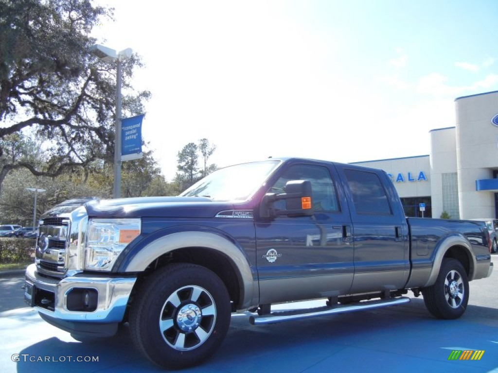 2013 Ford F250 Super Duty Lariat Crew Cab - Blue Jeans Metallic Color