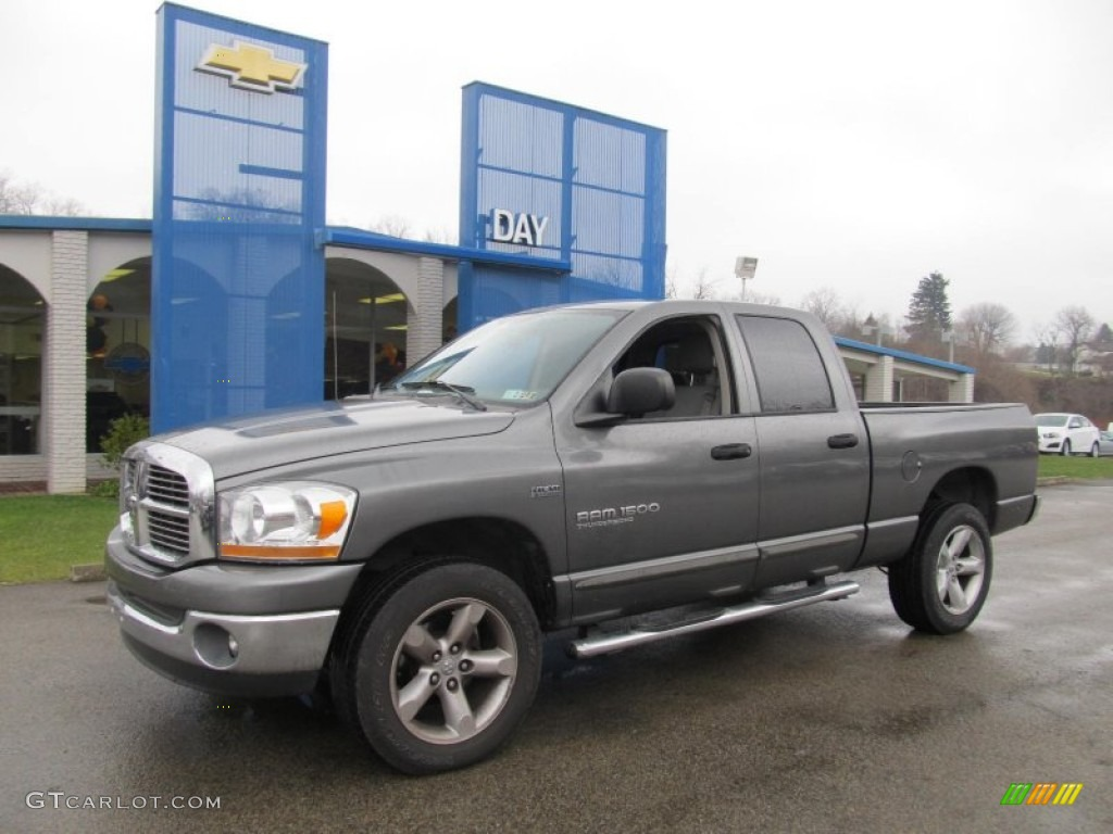 2006 Ram 1500 SLT Quad Cab 4x4 - Mineral Gray Metallic / Medium Slate Gray photo #1