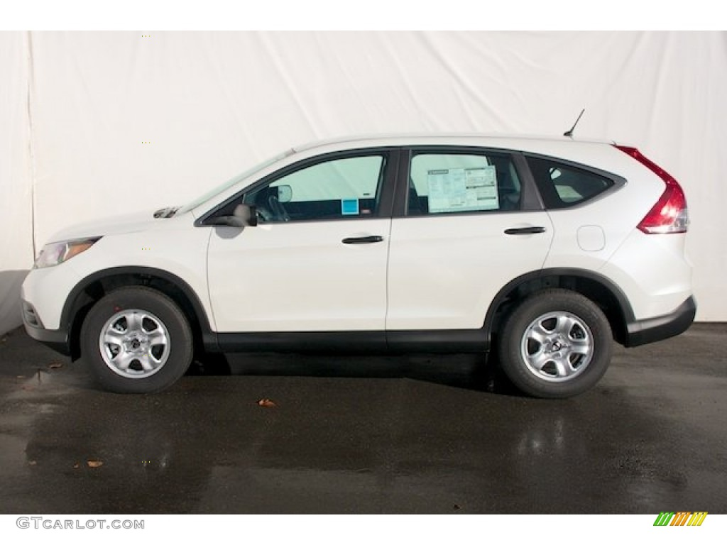 White Diamond Pearl 2013 Honda Cr V Lx Exterior Photo 77495477