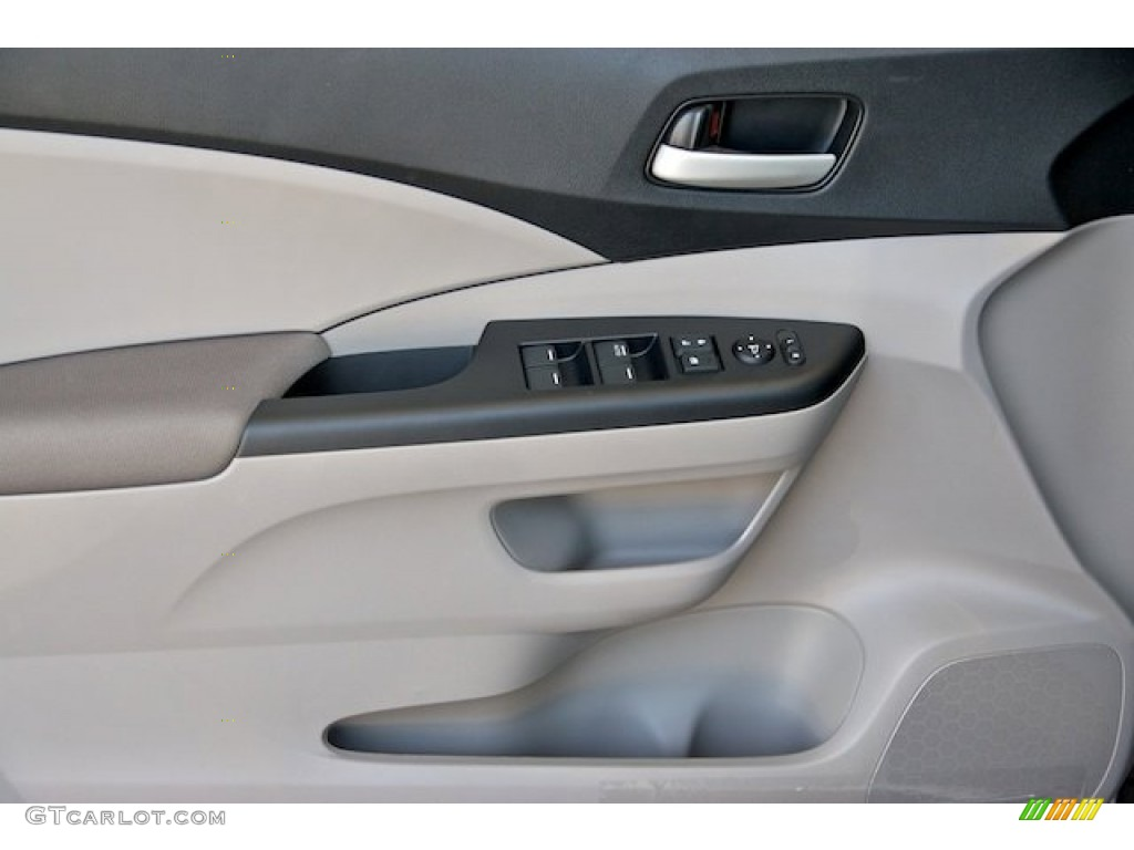 2013 CR-V LX - White Diamond Pearl / Gray photo #8