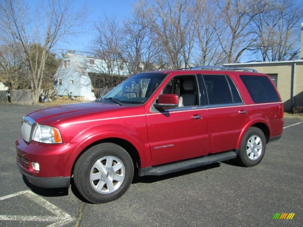 2005 Navigator Luxury - Vivid Red Metallic / Dove Grey photo #1