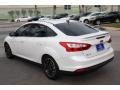 2012 White Platinum Tricoat Metallic Ford Focus Titanium Sedan  photo #7