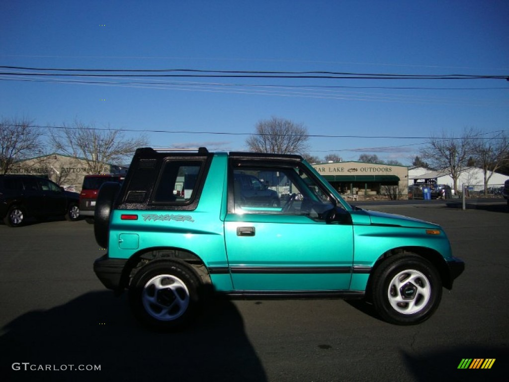 Tropical Green Metallic 1994 Geo Tracker Soft Top Exterior ...