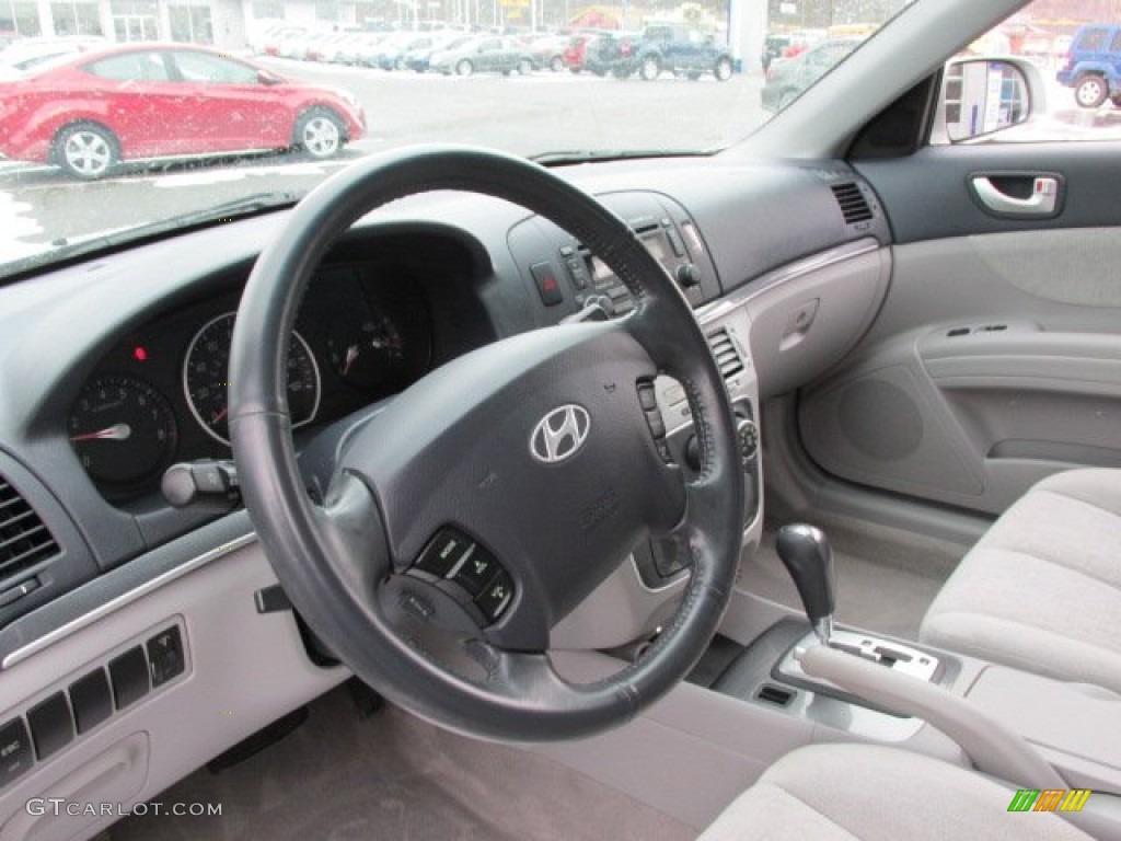 Gray Interior 2006 Hyundai Sonata Lx V6 Photo 77534333