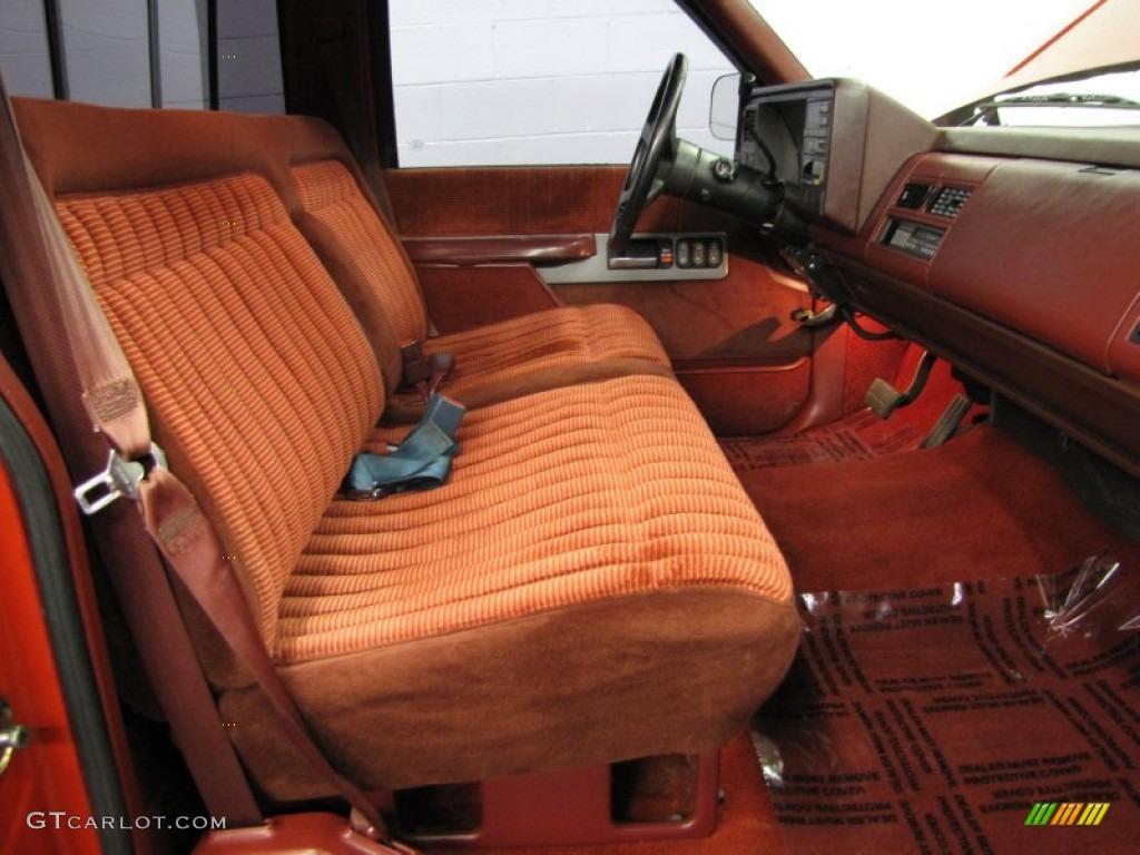 Red Interior 1990 GMC Sierra 1500 SLE Regular Cab Photo ...
