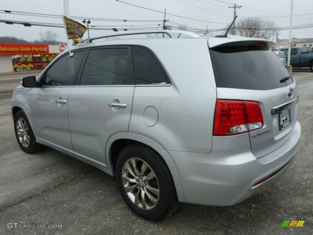2011 Sorento SX V6 AWD - Bright Silver / Black photo #3