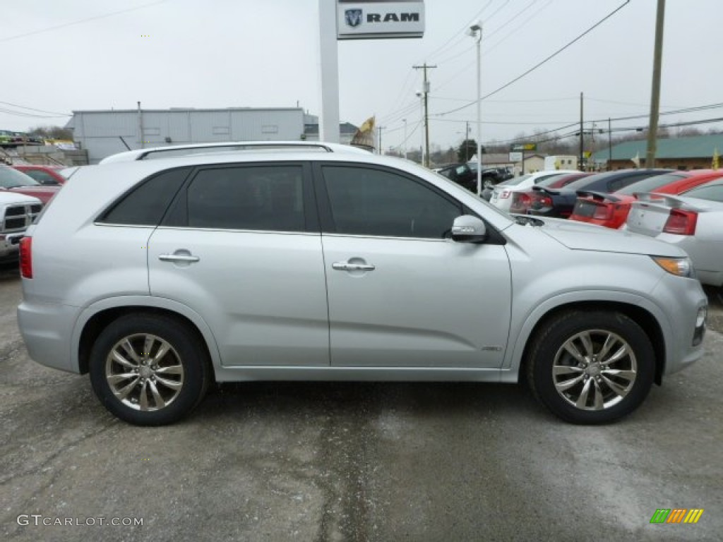2011 Sorento SX V6 AWD - Bright Silver / Black photo #6