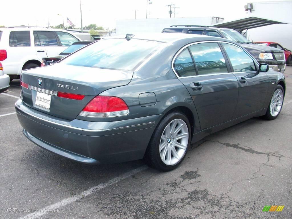 2002 Slate Green Metallic Bmw 7 Series 745li Sedan