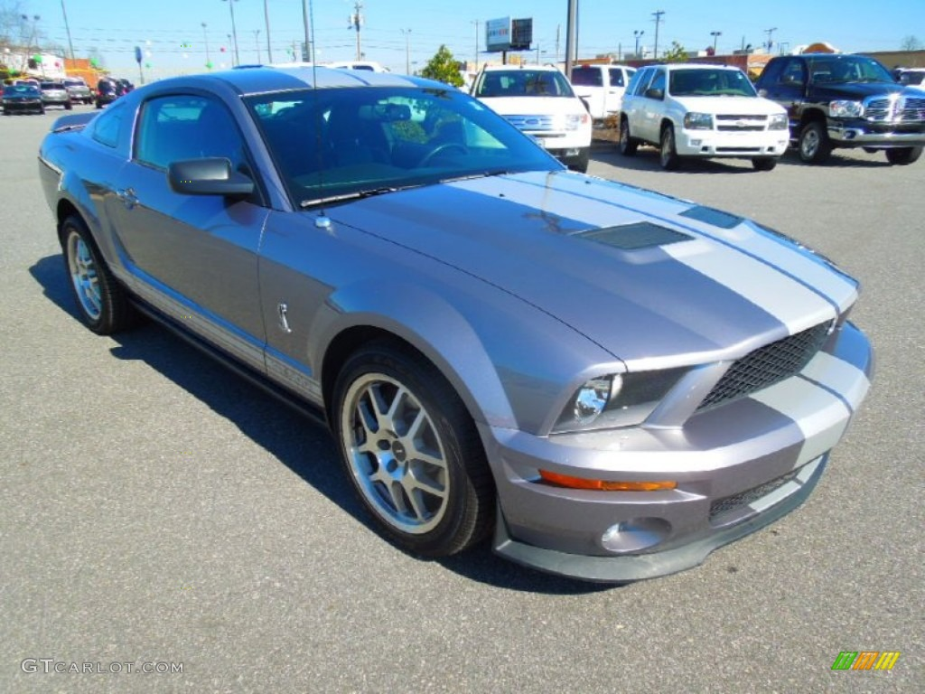 2007 Mustang Shelby GT500 Coupe - Tungsten Grey Metallic / Black Leather photo #1