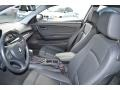 2010 BMW 1 Series Black Interior Front Seat Photo