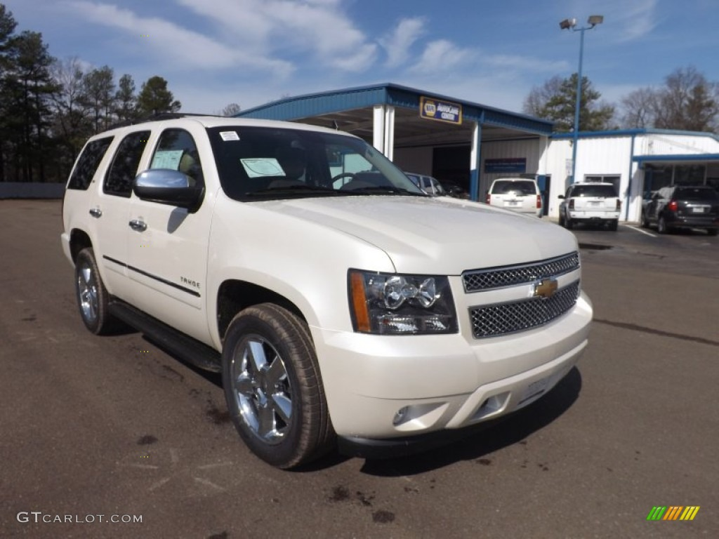 white diamond tricoat 2013 chevrolet tahoe ltz exterior photo 77566832