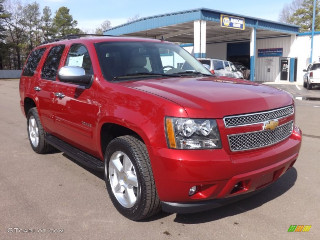 Crystal Red Tintcoat 2013 Chevrolet Tahoe Lt Exterior Photo 77567754