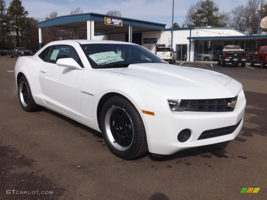 2013 summit white chevrolet camaro ls coupe 77555940. Black Bedroom Furniture Sets. Home Design Ideas