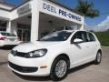 Candy White 2010 Volkswagen Golf 4 Door