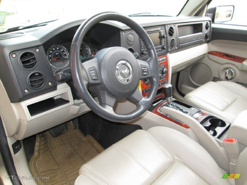 dark khaki light graystone interior 2006 jeep commander limited 4x4 photo 77576328. Black Bedroom Furniture Sets. Home Design Ideas