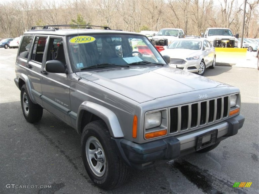 silverstone metallic 2000 jeep cherokee sport 4x4 exterior photo. Cars Review. Best American Auto & Cars Review