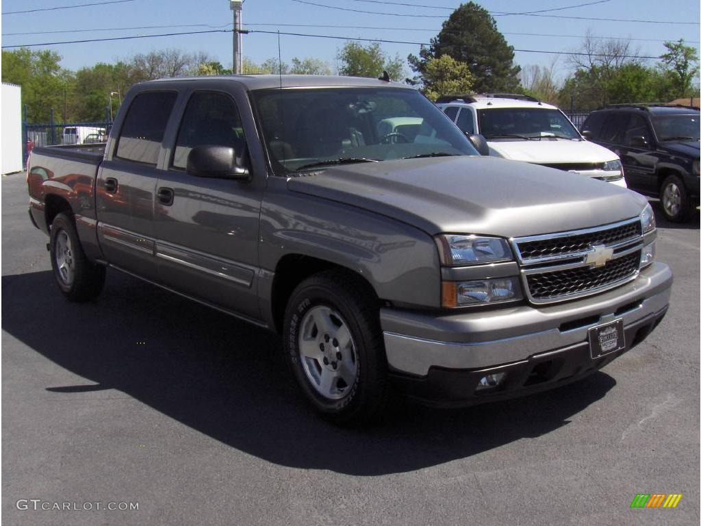 graystone metallic 2006 chevrolet silverado 1500 lt crew cab exterior photo 7759223. Black Bedroom Furniture Sets. Home Design Ideas