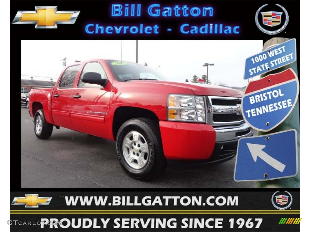 2009 Silverado 1500 LT XFE Crew Cab - Victory Red / Ebony photo #1