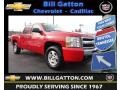 2009 Victory Red Chevrolet Silverado 1500 LT XFE Crew Cab  photo #1