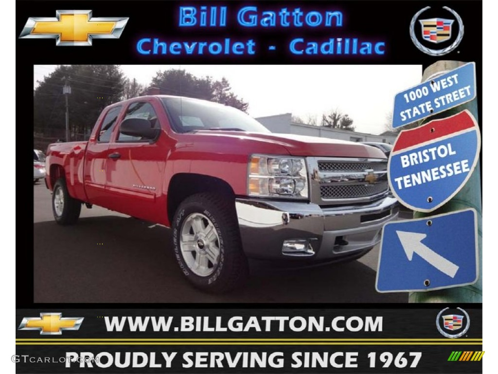2013 Silverado 1500 LT Extended Cab 4x4 - Victory Red / Ebony photo #1