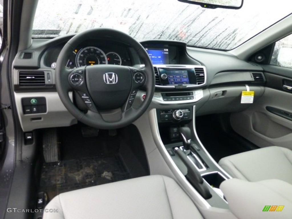 Gray Interior 2013 Honda Accord Touring Sedan Photo