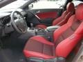Red Leather/Red Cloth Interior Photo for 2013 Hyundai Genesis Coupe #77612081