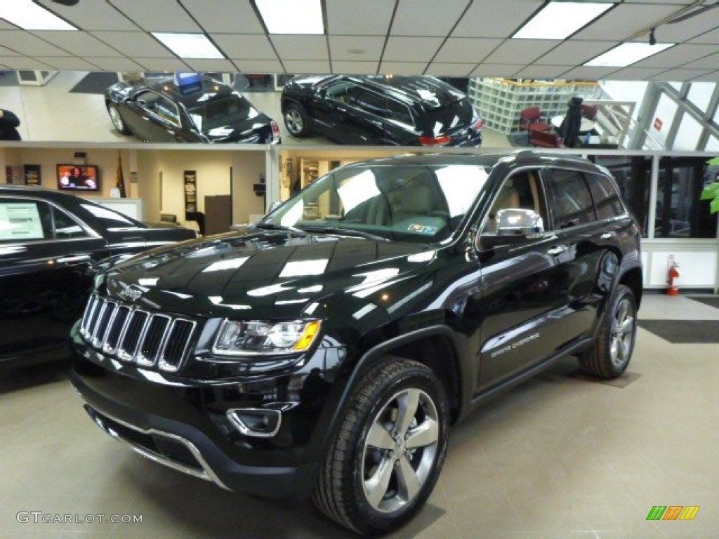 2014 Grand Cherokee Limited 4x4   Black Forest Green Pearl / New Zealand  Black/Light