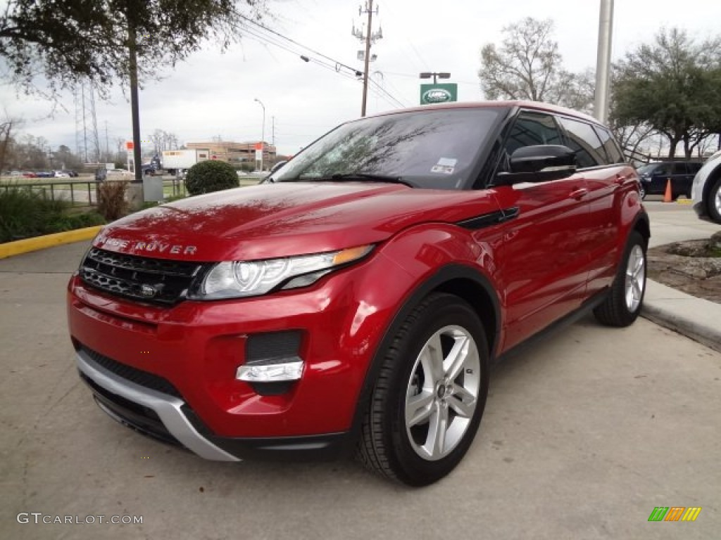 2013 firenze red metallic land rover range rover evoque. Black Bedroom Furniture Sets. Home Design Ideas