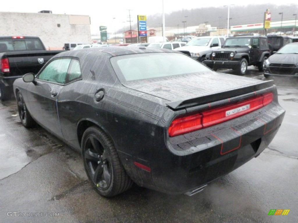 Pitch Black 2013 Dodge Challenger R/T Plus Blacktop Exterior Photo #77623130