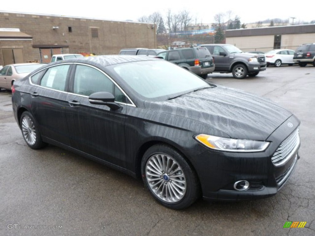 2013 Fusion Titanium AWD - Tuxedo Black Metallic / Charcoal Black photo #1