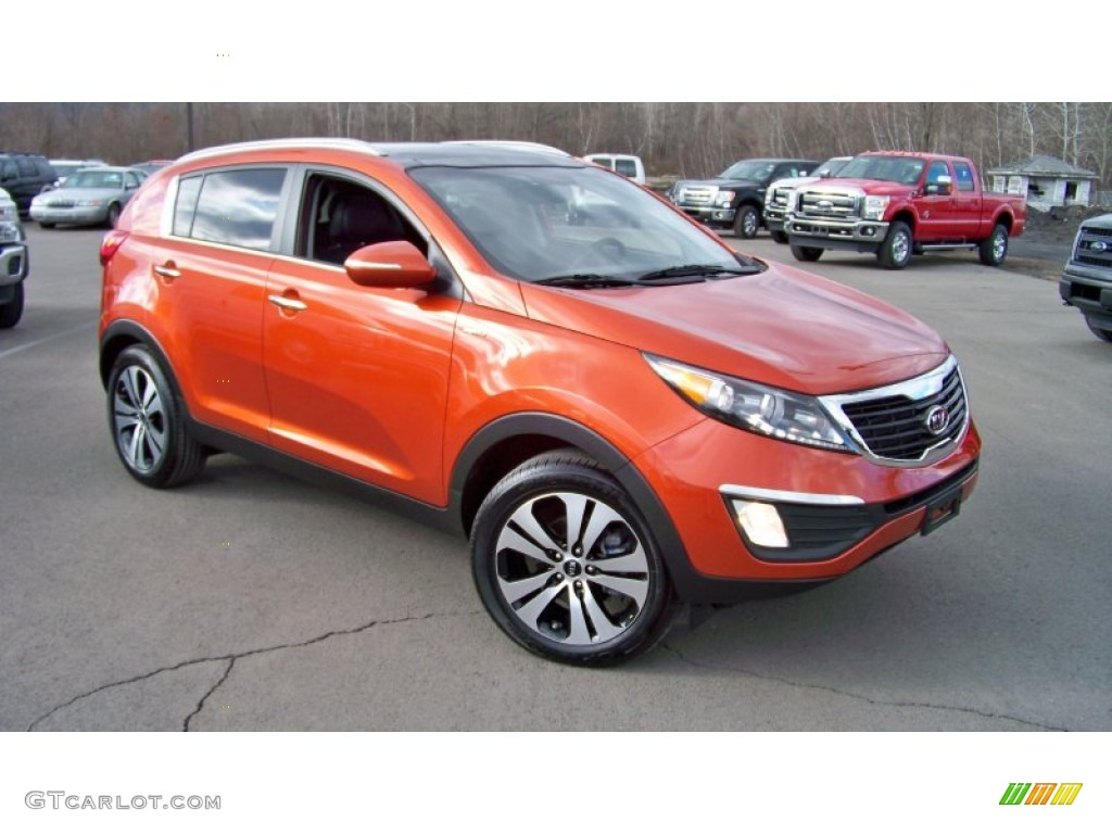 techno orange 2011 kia sportage ex awd exterior photo. Black Bedroom Furniture Sets. Home Design Ideas