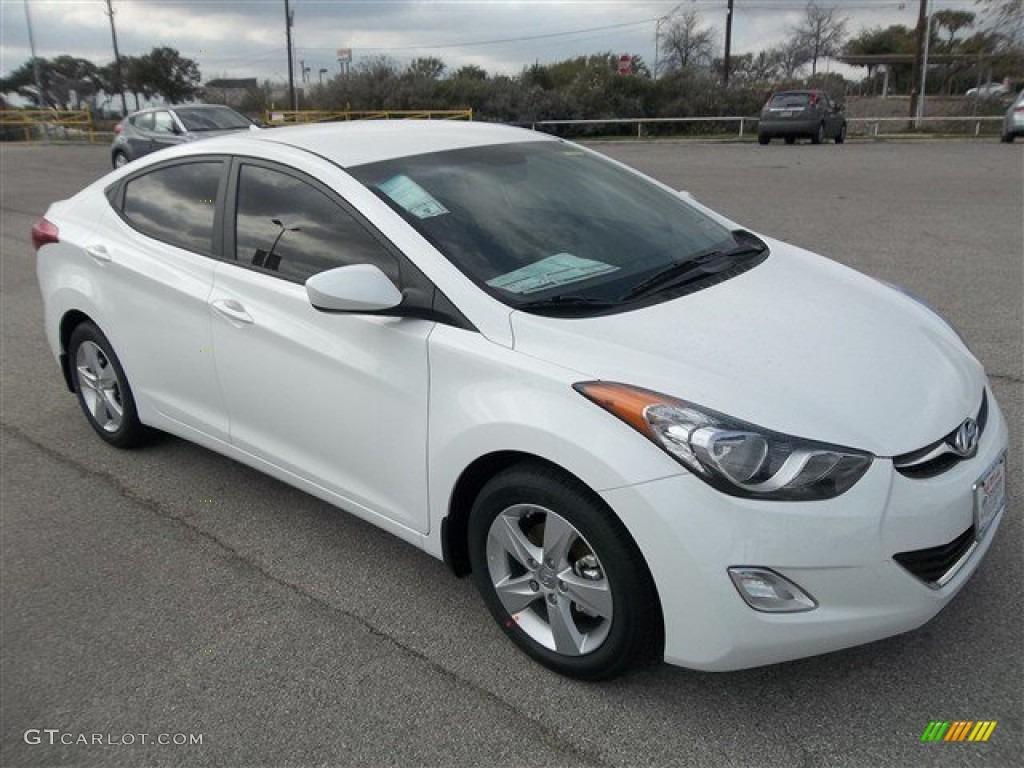 Shimmering White 2013 Hyundai Elantra Gls Exterior Photo