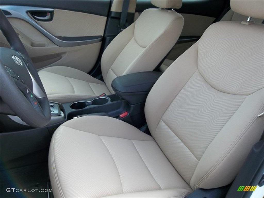 Beige Interior 2013 Hyundai Elantra Gls Photo 77692189