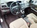 2012 Honda CR-V Beige Interior Prime Interior Photo