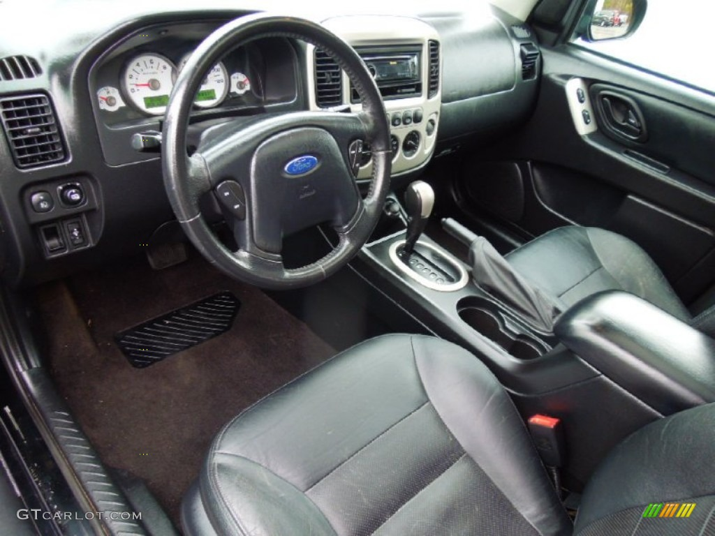 Ebony Black Interior 2006 Ford Escape Limited Photo 77696328