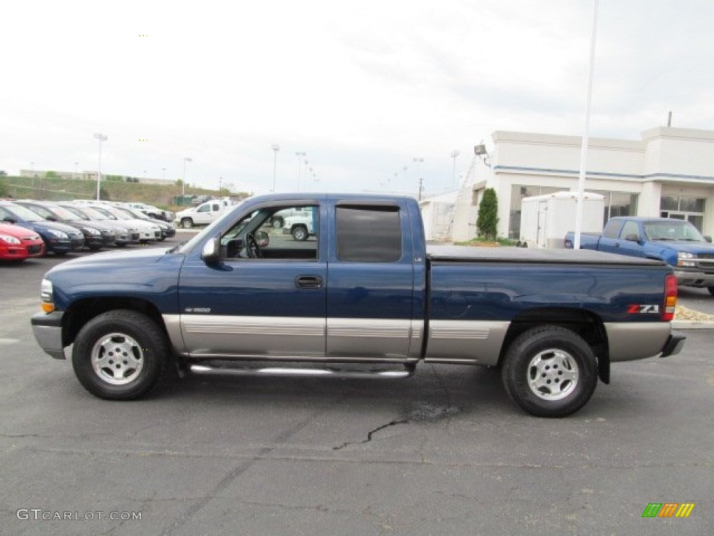 indigo blue metallic 2001 chevrolet silverado 1500 z71 extended cab 4x4 exterior photo 77715253. Black Bedroom Furniture Sets. Home Design Ideas