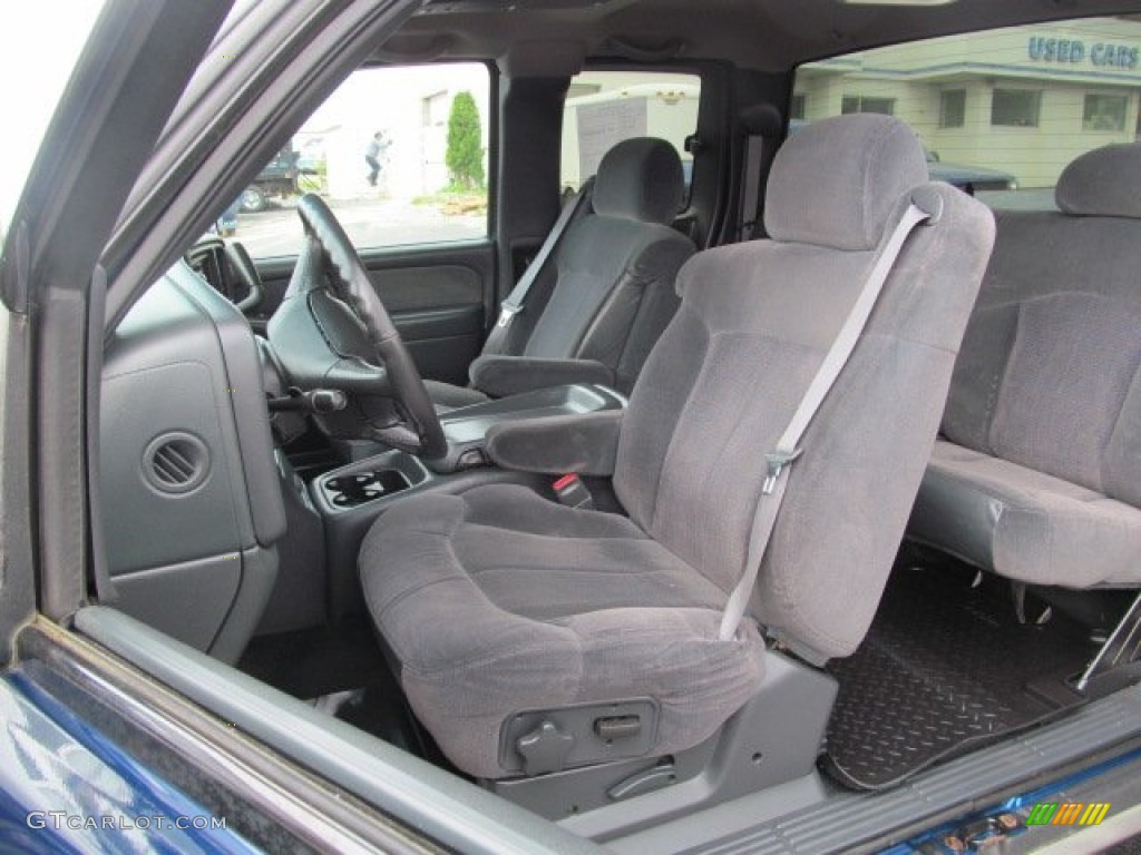Graphite Interior 2001 Chevrolet Silverado 1500 Z71