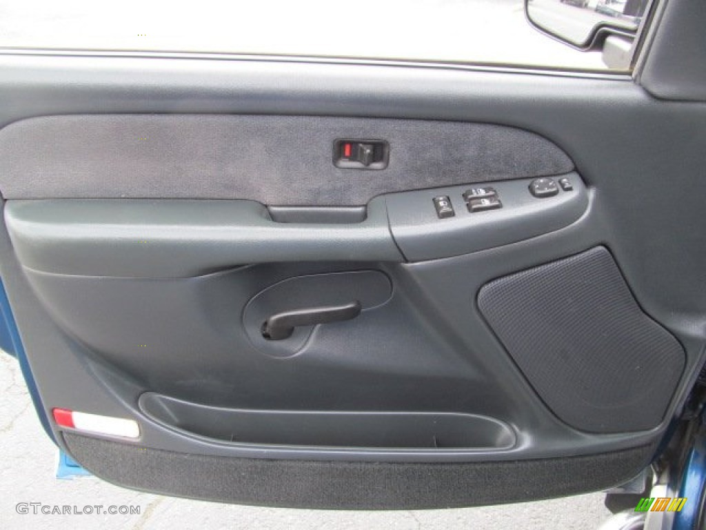 2001 Chevrolet Silverado 1500 Z71 Extended Cab 4x4 Graphite Door Panel Photo 77715481