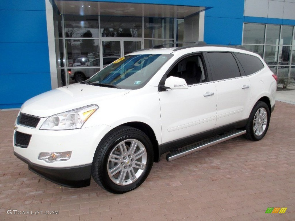 white 2011 chevrolet traverse lt awd exterior photo. Black Bedroom Furniture Sets. Home Design Ideas
