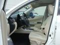 2010 Subaru Impreza Ivory Interior Front Seat Photo