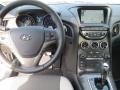 Gray Leather/Gray Cloth Dashboard Photo for 2013 Hyundai Genesis Coupe #77741453