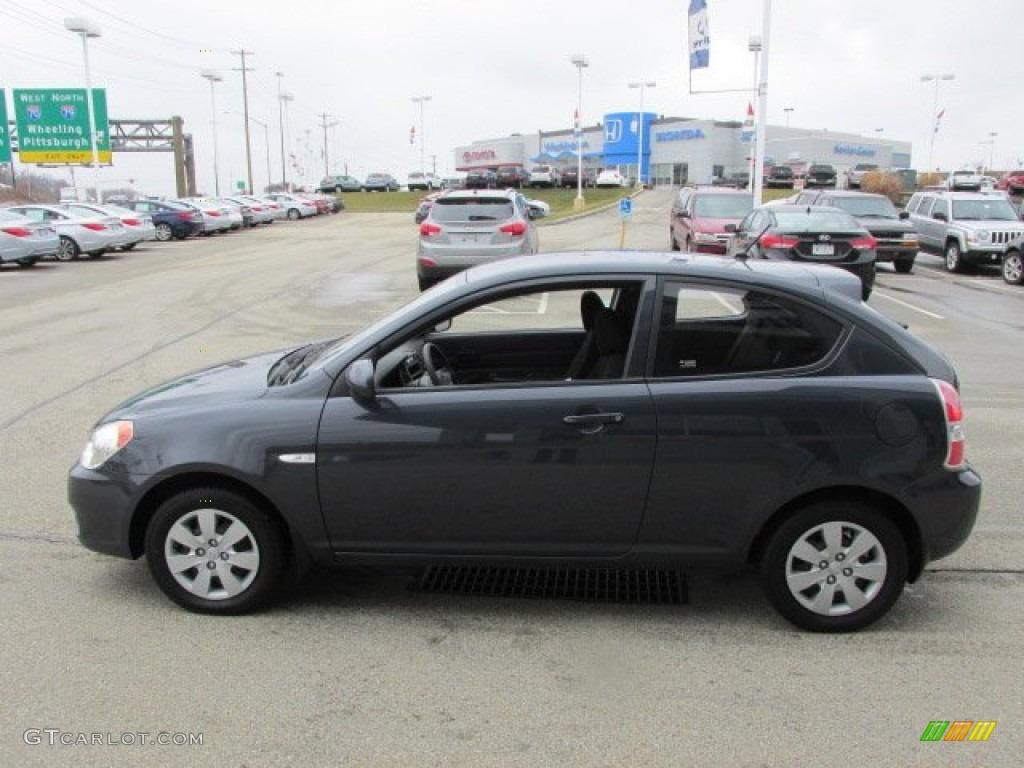 Charcoal gray 2010 hyundai accent gs 3 door exterior photo 77741865 for Accent colors for gray exterior