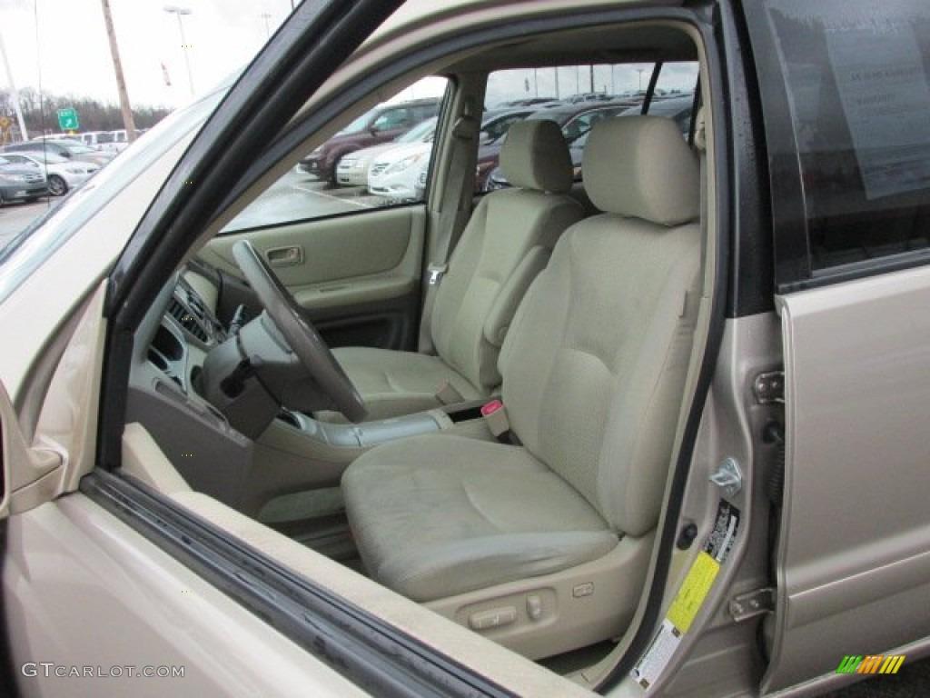 Ivory Interior 2005 Toyota Highlander V6 4wd Photo 77743583