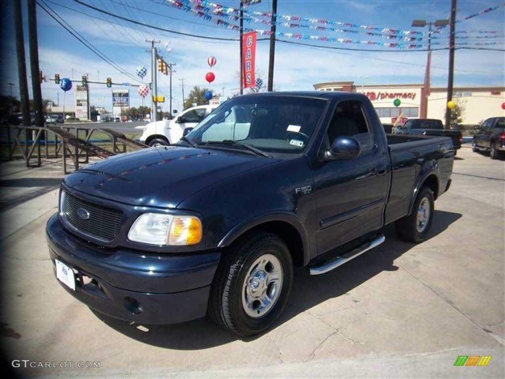 2003 true blue metallic ford f150 stx regular cab 77761606 car color galleries. Black Bedroom Furniture Sets. Home Design Ideas