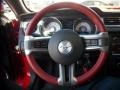 2011 Ford Mustang Brick Red/Cashmere Interior Steering Wheel Photo