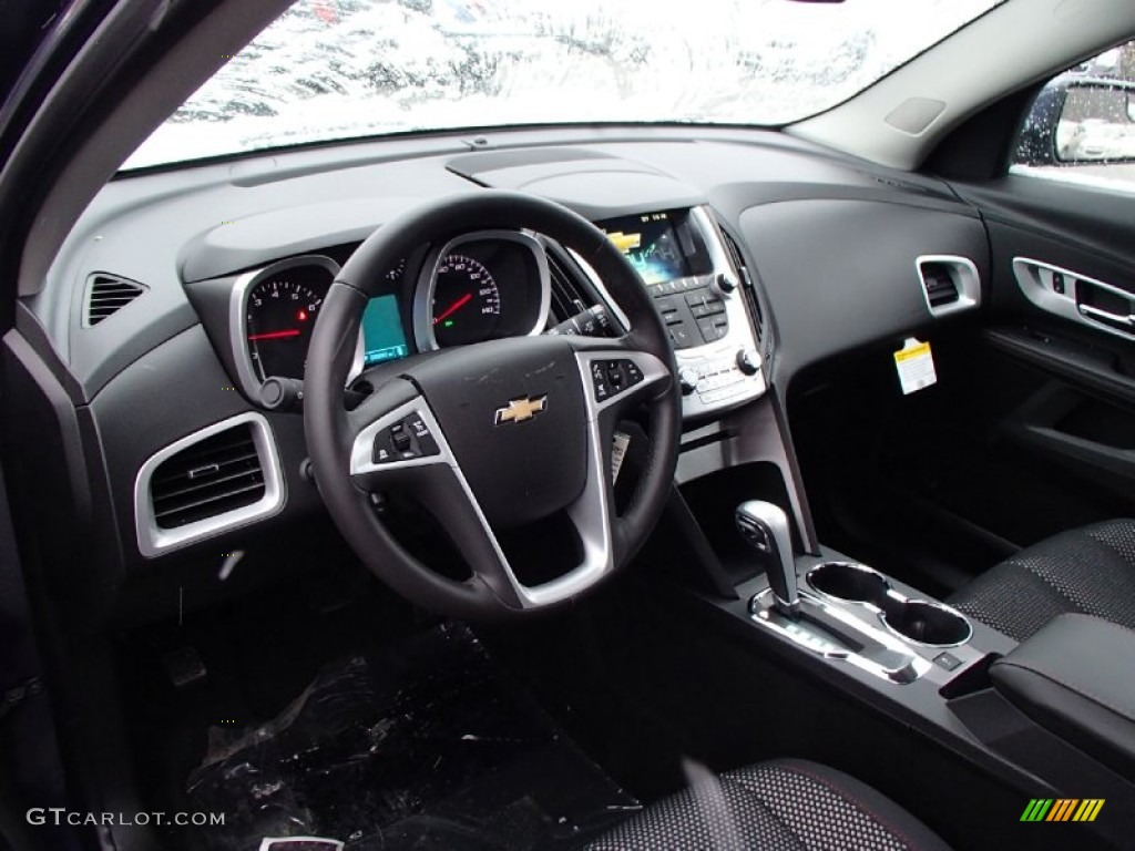 Jet Black Interior 2013 Chevrolet Equinox Lt Awd Photo 77775416