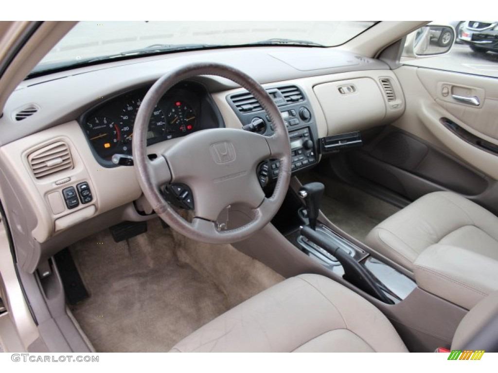 Ivory Interior 2001 Honda Accord Ex V6 Sedan Photo 77779424
