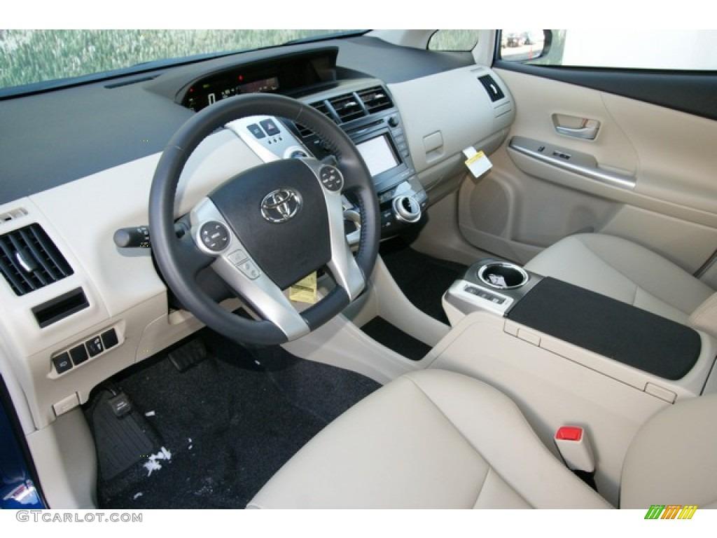 Bisque Interior 2017 Toyota Prius V Five Hybrid Photo 77783354