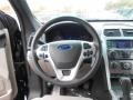 2013 Ford Explorer Medium Light Stone Interior Steering Wheel Photo
