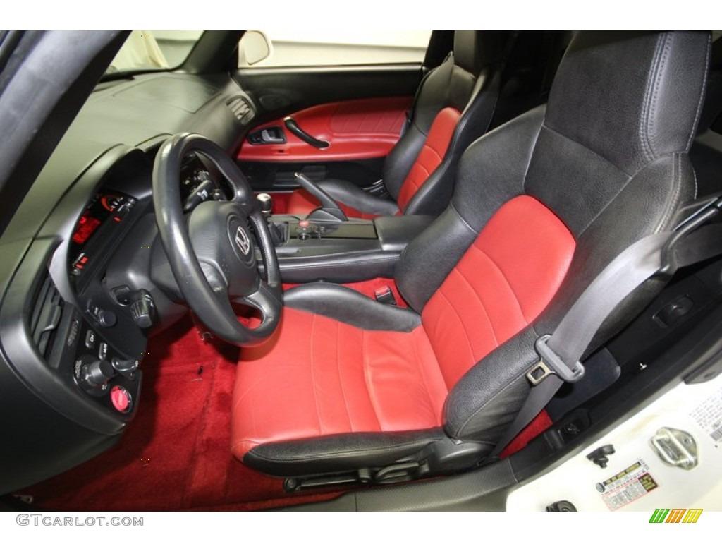 Black Red Interior 2007 Honda S2000 Roadster Photo 77813209